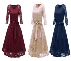 Nuur Womenand039s Cocktail Dress Party Dress Lace Vintage Midilength Full Swing Skirt