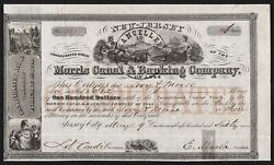 1860 New Jersey Morris Canal And Banking Company