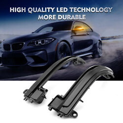 Smoked Side Mirror Sequential Blink Turn Signal Light For Bmw 1 2 3 4 Series I3