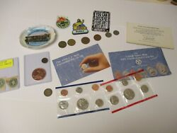 1991 United States Mint Proof Set + 1898 Stamps Coins Magnets 456