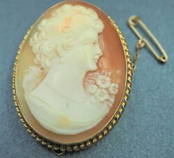 Womenand039s Cameo Brooch And Necklace Vintage Collectable Jewellery