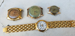 Vintage Delbana Chronograph Fortis Watches - Lot Of 4 Watches