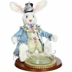 Mark Roberts 2020 Collection Rabbit With Glass Bowl Figurine, 15 Inches