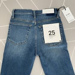 Brand New W/ Tag Re/done Comfort Stretch High Rise Ankle Crop Jeans Size 25 Bnwt