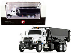 Mack Granite Roll-off Container Dump Truck White 1/87 Diecast Model First Gear