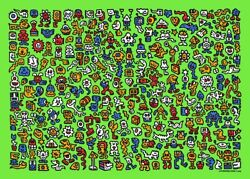 Mr. Doodle - Alien Town Print - Limited Edition 201/300 Sold Out In Handd