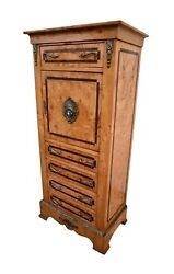 Vintage Inlaid Burl French Style Lingere Chest W/brass Ormolu