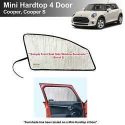 Side Window Front Seat Sunshade For 2015-2021 Mini Cooper Hardtop 4dr- 2pcs