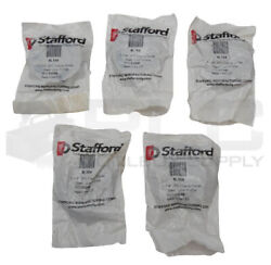 Lot Of 5 New Stafford 8l104 1-1/4 2pc Low Profile Steel Clamp Collar