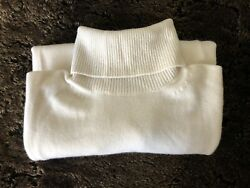 Tom Ford Mens White 100 Cashmere Turtle Neck Sweater Made In Italy Size 41 M