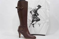 Anyi Lu Viktoria Brown Leather Boots Shoes 39/9 795