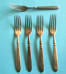 Antique Silverplate Forks One1847 Rodgers Bros Meridian Four Wm. Rogers Star 12