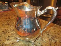 Vintage International Silver Company Silverplated 2 Qt.water Pitcher In Original