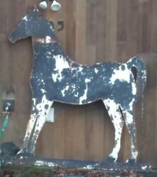 Antique Trade Sign 6.5'×6' Horse Shaped 1/4 Steel Horse Ranch Folk Art Stables
