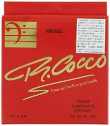 New R. Cocco Bass String Rc 4 G N Nickel Round Wound Long Scale 045-105 Japan