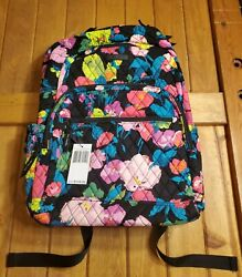 NWT Vera Bradley Essential Large Quilted Backpack Hilo Meadow MSRP $135 $46.87