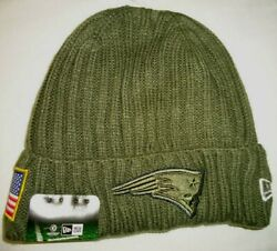 New England Patriots Salute To Service New Era On Field Knit Beanie Hat New/tags