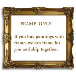 Gold Black Ornate Antique Oil Painting Wood Picture Frame 20x24