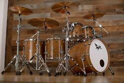 Hendrix Drums Perfect Ply Black Walnut 5 Piece Drum Kit Natural High Gloss Lacq