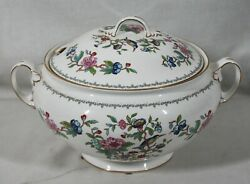 Rare Discontinued Aynsley China Pembroke Pattern Large Covered Soup Tureen New