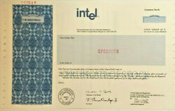 Intel Semiconductor Chip Manufacturer Tech Company Stock Certificate