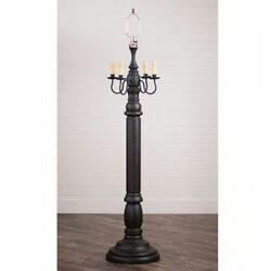 Irvin's Tinware General James Primitive Farmhouse Floor Lamp Black Without Shade