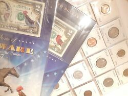 High Grade Foreign Coin Lot In Binder Sleeves + 2 Free Collectable 2 Bills