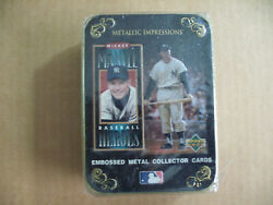 Mickey Mantle ⚾ Baseball Heroes Embossed Metal Collector Cards Decorative Tin