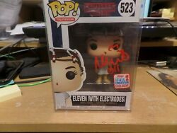 Funko Pop Stranger Things Eleven With Electrodes Signed By Millie Bobby Brown