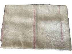 Neutral Pink Ivory Kilim Throw Pillow Cover Vintage One Of A Kind Wool Boho