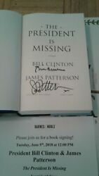 Bill Clinton James Patterson Signed The President Is Missing Book Beckett Loa