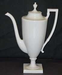 Vintage Discontinued Lenox China Colonial Pattern White 11 Tall Coffee Pot Mint