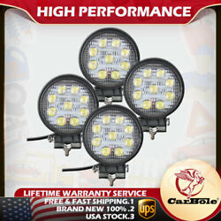 4x 27w 4inch Spot Round Led Work Light Offroad Fog Driving Drl For Suv Atv Truck