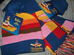 New The Beatles Beanie Hat Stocking Cap And Scarf Yellow Submarine Adult Unisex
