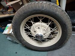 Antique Wheels And Tires 1929 Ford Firestone Tire And Ford Center Piece 30 Or 31