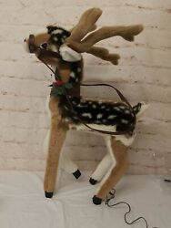 Santaand039s Best Holiday Animation Reindeer Fawn With Spots Plush 32