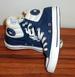 Womens Converse All-star Chuck Taylor Padded Collar Mid Navy Blue Sneakers 6