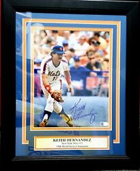 Keith Hernandez Signed 8x10 Photo Matted And Framed New York Mets Ai Verified