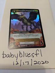 Wow Corrupted Hippogryph Tcg Loot Card Unscratched Read Below