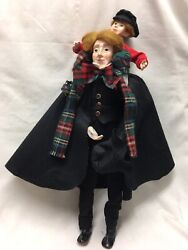 Department 56 Christmas Carol Collection Bob Cratchit And Tiny Tim Doll