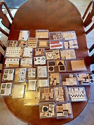 262 Wood Stampinand039 Up Rubber Stamps Kids Huge Lot New Used Excellent