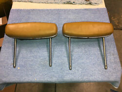 1968 1969 Dodge Charger Plymouth Gtx Roadrunner Headrests Brown Dukes Of Hazzard