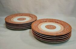 Georges Briard--imperial Brocade Dinner Plates--set Of 10 --spectacular--