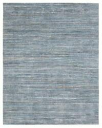 Handmade Blue Indoor/outdoor Area Rug Solid Pattern Thick Pile