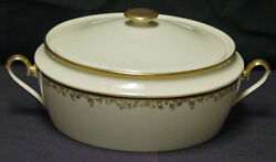 Rare Discontinued Lenox China Eclipse Pattern Covered Vegetable Tureen New
