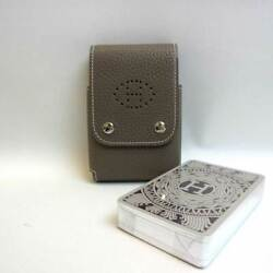 Hermes Playing Cards And Playing Cards Leather Etoop O Engraved Cigarette Case Pou