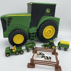 John Deere Fun On The Go Tractor Carrying Travel Tractor Case 10 Piece Toy Set
