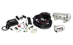 Airlift 27786 Universal Air Line 2.5 Gallon Polished Tank Viair 444c Compressor