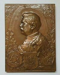 France, Russia, Greece And Bulgaria, Ww1 Marshal Joffre Bronze Medal 1988