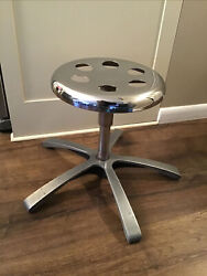 Adel Medical Doctor Stool Seat Chair Aluminum And Chrome 1988 Hospital